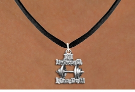 "<br>      WHOLESALE FASHION SPORTS JEWELRY <bR>                   EXCLUSIVELY OURS!! <BR>         AN ALLAN ROBIN DESIGN!! <BR>   CLICK HERE TO SEE 1000+ EXCITING <BR>      CHANGES THAT YOU CAN MAKE! <BR>        CADMIUM, LEAD & NICKEL FREE!! <BR>W1573SN - 3D SILVER TONE ""IF I BELIEVE IT,<BR> I CAN DO IT!"" WEIGHTLIGHTING CHARM & <BR>NECKLACE  FROM $4.85 TO $8.30 �2014"