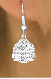 <br>WHOLESALE ARMED FORCES CHARM EARRINGS <bR>                 EXCLUSIVELY OURS!! <BR>            AN ALLAN ROBIN DESIGN!! <BR>      CADMIUM, LEAD & NICKEL FREE!! <BR>W1577SE - DETAILED SILVER TONE <Br>U.S. MARINES INSIGNIA CHARM EARRINGS <BR>          FROM $3.65 TO $8.40 �2014