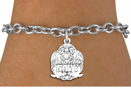 <br>WHOLESALE ARMED FORCES CHARM BRACELETS <bR>                    EXCLUSIVELY OURS!!<BR>               AN ALLAN ROBIN DESIGN!!<BR>      CLICK HERE TO SEE 1000+ EXCITING<BR>            CHANGES THAT YOU CAN MAKE!<BR>         CADMIUM, LEAD & NICKEL FREE!!<BR>     W1578SB - DETAILED 3D SILVER TONE <Br>U.S. NAVY INSIGNIA CHARM & BRACELET <BR>             FROM $4.50 TO $8.35 �2014