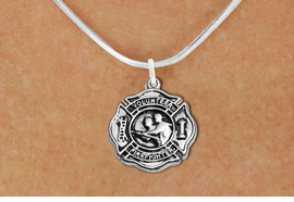 """<BR>       WHOLESALE FIRE DEPT NECKLACE JEWELRY  <bR>                   EXCLUSIVELY OURS!!  <Br>              AN ALLAN ROBIN DESIGN!!  <BR>     CLICK HERE TO SEE 1000+ EXCITING  <BR>           CHANGES THAT YOU CAN MAKE!  <BR>        LEAD, NICKEL & CADMIUM FREE!!  <BR>W1716SN2 - SILVER TONE FIRE DEPT SHIELD <BR> WITH """"VOLUNTEER FIREFIGHTER"""" CHARM ON <BR>SNAKE CHAIN NECKLACE FROM $5.90 TO $9.35 �2015"""