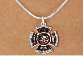 """<BR>     WHOLESALE FASHION FIRE SHIELD JEWELRY  <bR>                        EXCLUSIVELY OURS!!  <Br>                   AN ALLAN ROBIN DESIGN!!  <BR>          CLICK HERE TO SEE 1000+ EXCITING  <BR>                CHANGES THAT YOU CAN MAKE!  <BR>             LEAD, NICKEL & CADMIUM FREE!!  <BR> W1718SN2 - SILVER TONE AND RED EPOXY WITH  <BR>CRYSTAL ACCENTS """"FIRE MOM"""" SHIELD CHARM ON  <BR>  SILVER TONE LOBSTER CLASP SNAKE CHAIN NECKLACE  <BR>                FROM $5.40 TO $9.85 �2015"""