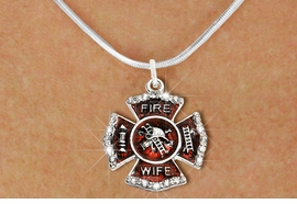 """<BR>     WHOLESALE FASHION FIRE SHIELD JEWELRY  <bR>                        EXCLUSIVELY OURS!!  <Br>                   AN ALLAN ROBIN DESIGN!!  <BR>          CLICK HERE TO SEE 1000+ EXCITING  <BR>                CHANGES THAT YOU CAN MAKE!  <BR>             LEAD, NICKEL & CADMIUM FREE!!  <BR> W1719SN2 - SILVER TONE AND RED EPOXY WITH  <BR>CRYSTAL ACCENTS """"FIRE WIFE"""" SHIELD CHARM ON  <BR>  SILVER TONE LOBSTER CLASP SNAKE CHAIN NECKLACE  <BR>                  FROM $5.40 TO $9.85 �2015"""
