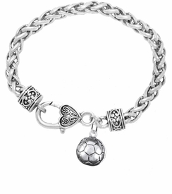 <BR>            WHOLESALE SOCCER SPORTS JEWELRY   <BR>                         EXCLUSIVELY OURS!!        <Br>                    AN ALLAN ROBIN DESIGN!!       <BR>                             HYPOALLERGENIC     <BR>               NICKEL, LEAD & CADMIUM FREE!        <BR>   W1804B1 - 3D SPHERE SOCCER BALL CHARM ON     <BR>   BRACELET WITH HEART SHAPED LOBSTER CLASP <BR>                 FROM $6.23 TO $11.75 �2016