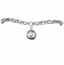 <BR>            WHOLESALE SOCCER SPORTS JEWELRY   <BR>                         EXCLUSIVELY OURS!!        <Br>                    AN ALLAN ROBIN DESIGN!!       <BR>                             HYPOALLERGENIC     <BR>               NICKEL, LEAD & CADMIUM FREE!        <BR>   W1804B2 - 3D SPHERE SOCCER BALL CHARM ON     <BR>     CHAIN LINK BRACELET WITH LOBSTER CLASP <BR>                 FROM $6.23 TO $11.75 �2016