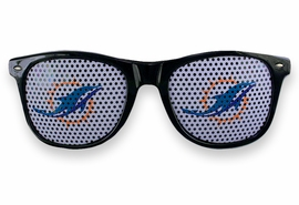 <BR>OFFICIALLY LICENSED NFL TEAM SHADES!! <BR>W20919SG - THE MIAMI DOLPHINS <Br> OFFICIAL LOGO BLACK SUNGLASSES <br>      YOURS FOR $7.35 EACH �2013