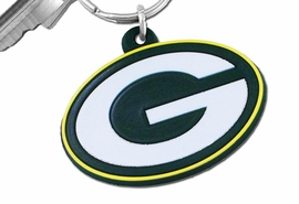 "<BR> WHOLESALE NFL RUBBER KEYCHAINS <bR>            LEAD & NICKEL FREE!!!<br>         OFFICIAL NFL LICENSED!!<br>   NATIONAL FOOTBALL LEAGUE!! <Br>W21019KC - GREEN BAY PACKERS<BR> ""G"" LOGO LARGE RUBBER <BR>KEY CHAIN FROM $1.58 TO $4.25 �2013"