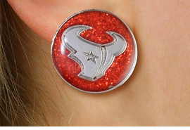 "<br> WHOLESALE HOUSTON TEXANS EARRINGS <bR>             LEAD & NICKEL FREE!! <Br>            OFFICIALLY LICENSED!! <Br>   NATIONAL FOOTBALL LEAGUE!! <Br>   W21047E - HOUSTON TEXANS NFL TEAM <Br>SILVER TONE ""TORO"" RED SPARKLE EARRINGS <BR>         FROM $7.31 TO $16.25 �2013"