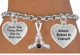 <BR>        BEAUTIFUL CRYSTAL ICE HOCKEY STICKS & PUCK CHARM BRACELET WHOLESALE <bR>                 W21443B - THE NEW WAY TO EXPRESS LOVE, MOTIVATION,<BR>          POSITIVE, AFFIRMATIVE EXPRESSIONS, THAT WILL GO PERFECTLY<br>        WITH ANOTHER POSITIVE AFFIRMATION CHARM IF YOU WANT  ONE,<BR>   MORE CHOICES LOOK BELOW,  CHARM BRACELET FROM $9.73 TO $14.58<BR>                                    CostumeJewelryWholesale.com �2014