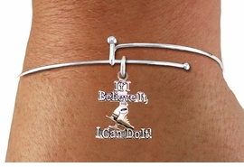 "<BR>"" If I Believe It, I Can Do It! "" ICE SKATING ADJUSTABLE SILVERTONE BRACELET<BR>                            AN ORIGINAL ALLAN ROBIN CUSTOM DESIGN<br>                                          WHOLESALE CHARM BRACELET <BR>                                        LEAD, CADMIUM & NICKEL FREE!!  <BR>              W21548B-HIGH POLISHED, BRIGHT ADJUSTABLE SILVER TONE  <BR>                                BRACELET FROM $4.50 TO $8.35 EACH! ©2015"