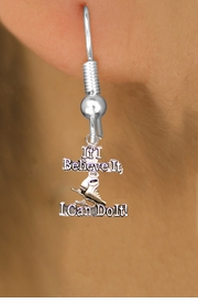 "<BR>"" If I Believe It, I Can Do It! "" ICE SKATING FISH HOOK NON ALLERGIC EARRINGS<BR>                             AN ORIGINAL ALLAN ROBIN CUSTOM DESIGN<br>                                           WHOLESALE CHARM EARRINGS <BR>                                         LEAD, CADMIUM & NICKEL FREE!!  <BR>                          W21549E-NON-ALLERGIC, BRIGHT SILVER TONE <BR>                 FISH HOOK EARRINGS FROM $4.65 TO $8.45 EACH! ©2015"