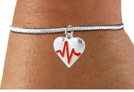 "<BR>                                                                 NICKEL FREE !<BR>                                                         ""THE PERFECT GIFT"",<BR>                               ""Your Love Makes My Heart Beat"","" I Love You"", Or<BR>                      In Recognition Of ""Women's Or Children's Heart Disease""<BR>                           "" HEARTBEAT "" ADJUSTABLE SNAKE CHAIN BRACELET<BR>                               AN ORIGINAL ALLAN ROBIN CUSTOM DESIGN<br>                                          WHOLESALE CHARM BRACELET <BR>                                        LEAD, CADMIUM & NICKEL FREE!!  <BR>                           W21569B-ADJUSTABLE SNAKE CHAIN SILVER TONE  <BR>                             BRACELET FROM $4.90 TO $5.85 EACH! ©2015"