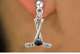 <BR>                            NICKEL FREE !<BR>             WHOLESALE HOCKEY JEWELRY <bR>                    EXCLUSIVELY OURS!! <Br>               AN ALLAN ROBIN DESIGN!! <BR>         LEAD, NICKEL & CADMIUM FREE!! <BR>W21582SE - SILVER TONE HOCKEY STICKS <BR>              AND PUCK CHARM EARRINGS <BR>             FROM $5.40 TO $10.45 �2013