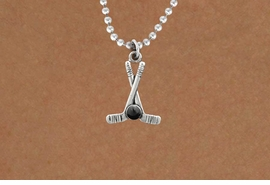 <BR>         NICKEL FREE & ADJUSTABLE NECKLACE ! <BR>WHOLESALE HOCKEY BALL CHAIN NECKLACE <bR>                            EXCLUSIVELY OURS!! <Br>                       AN ALLAN ROBIN DESIGN!! <BR>                 LEAD, NICKEL & CADMIUM FREE!! <BR>              W21585N - SILVER TONE HOCKEY STICKS <BR>            AND PUCK CHARM ADJUSTABLE NECKLACE <BR>                     FROM $4.50 TO $10.00 �2015