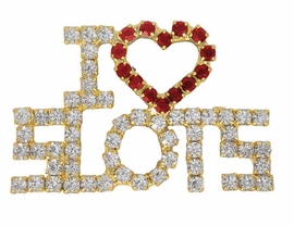 "W3031P-NEW! ""I LOVE SLOTS""<BR>FASHION PIN AS LOW AS $9.85"