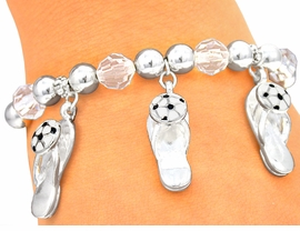 <Br>      W4005B - SOCCER BALL<BR>FLIP-FLOP STRETCH BRACELET<BR>          FROM $3.94 TO $8.75