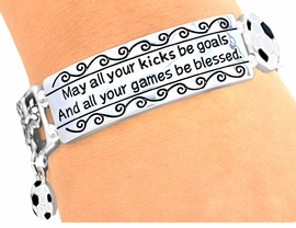 W4157B - PRAYER SOCCER<BR> STRETCH BRACELET FROM<BR>            $4.50 TO $10.00