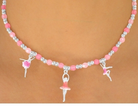 <br>            W5629NBR - ADORABLE <Br>  CHILDREN'S NICKEL & LEAD FREE<Br> BALLERINA NECKLACE, BRACELET,<Br>   AND RING SET AS LOW AS $3.38