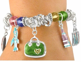 <br>         W5891BA - SILVER TONE &<br>AUSTRIAN CRYSTAL MARBLE SWIRL<bR>   CHARM BRACELET ASSORTMENT<BR>              FROM $6.75 TO $13.50