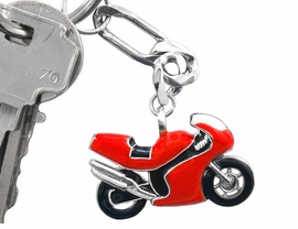 W5893KC - RED & BLACK SPORTS BIKE<bR>            KEYCHAIN AS LOW AS $2.65