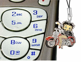 <br>   W6907CPJ - HOT BETTY BOOP BIKER<bR>CELL PHONE JEWELRY AS LOW AS $2.20