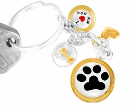 "<bR>            W9797KC - ""I LOVE MY DOG""<br>TWO-TONE KEY CHAIN AS LOW AS $1.99"