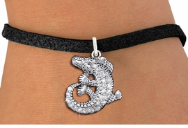 <BR>  WHOLESALE ANIMAL CHARM BRACELET <bR>                EXCLUSIVELY OURS!! <Br>           AN ALLAN ROBIN DESIGN!! <BR>  CLICK HERE TO SEE 1000+ EXCITING <BR>        CHANGES THAT YOU CAN MAKE! <BR>     LEAD, NICKEL & CADMIUM FREE!! <BR> W1436SB - SILVER TONE CLEAR CRYSTAL <BR> CURLED CROCODILE CHARM & BRACELET <BR>         FROM $5.15 TO $9.00 �2013