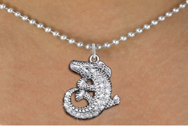 <BR>      WHOLESALE ANIMAL JEWELRY <bR>                   EXCLUSIVELY OURS!! <Br>              AN ALLAN ROBIN DESIGN!! <BR>     CLICK HERE TO SEE 1000+ EXCITING <BR>           CHANGES THAT YOU CAN MAKE! <BR>        LEAD, NICKEL & CADMIUM FREE!! <BR>  W1436SN - SILVER TONE CLEAR CRYSTAL <BR> CURLED CROCODILE CHARM AND NECKLACE <BR>            FROM $5.90 TO $9.35 �2013