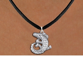 <BR>      WHOLESALE ANIMAL JEWELRY <bR>                   EXCLUSIVELY OURS!! <Br>              AN ALLAN ROBIN DESIGN!! <BR>     CLICK HERE TO SEE 1000+ EXCITING <BR>           CHANGES THAT YOU CAN MAKE! <BR>        LEAD, NICKEL & CADMIUM FREE!! <BR>  W1436SN - SILVER TONE CLEAR CRYSTAL <BR> CURLED CROCODILE CHARM AND NECKLACE <BR>            FROM $5.55 TO $9.00 �2013