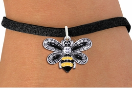 <BR>        WHOLESALE ANIMAL JEWELRY <bR>                EXCLUSIVELY OURS!! <Br>           AN ALLAN ROBIN DESIGN!! <BR>  CLICK HERE TO SEE 1000+ EXCITING <BR>        CHANGES THAT YOU CAN MAKE! <BR>     LEAD, NICKEL & CADMIUM FREE!! <BR>   W1439SB - SILVER TONE WITH CLEAR <BR> CRYSTAL BUMBLEBEE CHARM & BRACELET <BR>         FROM $5.40 TO $9.85 �2013