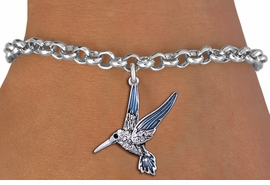 <BR>        WHOLESALE ANIMAL JEWELRY <bR>                EXCLUSIVELY OURS!! <Br>           AN ALLAN ROBIN DESIGN!! <BR>  CLICK HERE TO SEE 1000+ EXCITING <BR>        CHANGES THAT YOU CAN MAKE! <BR>     LEAD, NICKEL & CADMIUM FREE!! <BR>   W1440SB - SILVER TONE AND CLEAR <BR> CRYSTAL HUMMINGBIRD CHARM & BRACELET <BR>         FROM $5.15 TO $9.00 �2013