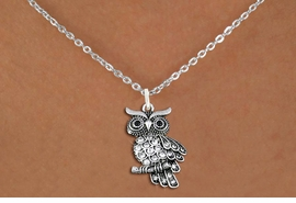 <BR>   WHOLESALE ANIMAL NECKLACE JEWELRY <bR>                   EXCLUSIVELY OURS!! <Br>              AN ALLAN ROBIN DESIGN!! <BR>     CLICK HERE TO SEE 1000+ EXCITING <BR>           CHANGES THAT YOU CAN MAKE! <BR>        LEAD, NICKEL & CADMIUM FREE!! <BR>   W1510SN - ANTIQUED SILVER TONE AND <BR>    AUSTRIAN CLEAR CRYSTAL OWL CHARM  <BR>    NECKLACE FROM $5.55 TO $9.00 �2013