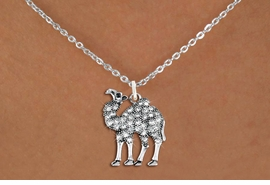 <BR>   WHOLESALE ANIMAL NECKLACE JEWELRY <bR>                   EXCLUSIVELY OURS!! <Br>              AN ALLAN ROBIN DESIGN!! <BR>     CLICK HERE TO SEE 1000+ EXCITING <BR>           CHANGES THAT YOU CAN MAKE! <BR>        LEAD, NICKEL & CADMIUM FREE!! <BR>   W1511SN - ANTIQUED SILVER TONE AND <BR>  AUSTRIAN CLEAR CRYSTAL CAMEL CHARM  <BR>    NECKLACE FROM $5.55 TO $9.00 �2013