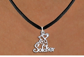"<br>WHOLESALE ARMED FORCES JEWELRY <bR>                   EXCLUSIVELY OURS!! <BR>              AN ALLAN ROBIN DESIGN!! <BR>     CLICK HERE TO SEE 1000+ EXCITING <BR>           CHANGES THAT YOU CAN MAKE! <BR>        CADMIUM, LEAD & NICKEL FREE!! <BR>     W1504SN - BEAUTIFUL SILVER TONE <BR>    ""I LOVE MY SOLDIER"" CHARM & NECKLACE <BR>             FROM $4.55 TO $8.00 �2013"