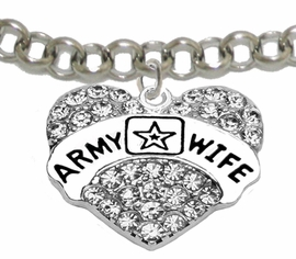 "<Br>              WHOLESALE  ARMY WIFE JEWELRY  <BR>                         AN ALLAN ROBIN DESIGN!! <Br>                   CADMIUM, LEAD & NICKEL FREE!!  <Br>                   W1809B2  ""ARMY WIFE"" HEART  <BR>              CHARM ON ADJUSTABLE CHAIN BRACELET <BR>                        FROM $7.50 TO $9.50 �2016"