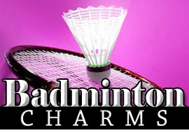 <BR>    WHOLESALE BADMINTON CHARMS <BR> CADMIUM, LEAD AND NICKEL FREE <BR>             SOLD INDIVIDUALLY