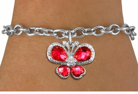 <BR>      WHOLESALE BUTTERFLY BRACELET<bR>                 EXCLUSIVELY OURS!! <Br>             AN ALLAN ROBIN DESIGN!! <BR>    CLICK HERE TO SEE 1000+ EXCITING <BR>       CHANGES THAT YOU CAN MAKE!<BR>       LEAD, NICKEL & CADMIUM FREE!! <BR> W1398SB - SILVER TONE AND RUBY RED <BR> CRYSTAL BUTTERFLY CHARM & BRACELET <BR>         FROM $5.15 TO $9.00 �2013
