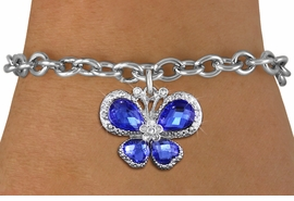 <BR>      WHOLESALE BUTTERFLY JEWELRY<bR>                 EXCLUSIVELY OURS!! <Br>             AN ALLAN ROBIN DESIGN!! <BR>    CLICK HERE TO SEE 1000+ EXCITING <BR>       CHANGES THAT YOU CAN MAKE!<BR>       LEAD, NICKEL & CADMIUM FREE!! <BR>    W1395SB - SILVER TONE AND BLUE <BR> CRYSTAL BUTTERFLY CHARM & BRACELET <BR>         FROM $5.15 TO $9.00 �2013