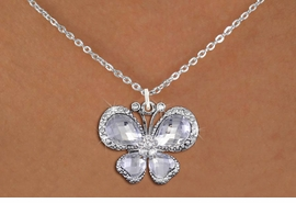 <BR>      WHOLESALE BUTTERFLY JEWELRY<bR>                    EXCLUSIVELY OURS!! <Br>                AN ALLAN ROBIN DESIGN!! <BR>       CLICK HERE TO SEE 1000+ EXCITING <BR>          CHANGES THAT YOU CAN MAKE! <BR>         LEAD, NICKEL & CADMIUM FREE!! <BR>  W1396SN - SILVER TONE AND CLEAR <BR> CRYSTAL BUTTERFLY CHARM AND NECKLACE <BR>             FROM $5.55 TO $9.00 �2013