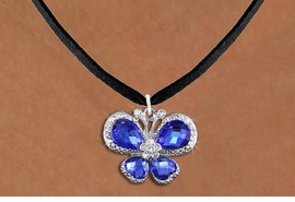 <BR>      WHOLESALE BUTTERFLY NECKLACE<bR>                    EXCLUSIVELY OURS!! <Br>                AN ALLAN ROBIN DESIGN!! <BR>       CLICK HERE TO SEE 1000+ EXCITING <BR>          CHANGES THAT YOU CAN MAKE! <BR>         LEAD, NICKEL & CADMIUM FREE!! <BR>  W1395SN - SILVER TONE AND BLUE <BR> CRYSTAL BUTTERFLY CHARM AND NECKLACE <BR>             FROM $5.55 TO $9.00 �2013