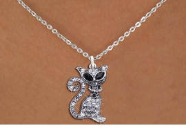<BR>               WHOLESALE CAT JEWELRY <bR>                   EXCLUSIVELY OURS!! <Br>              AN ALLAN ROBIN DESIGN!! <BR>     CLICK HERE TO SEE 1000+ EXCITING <BR>           CHANGES THAT YOU CAN MAKE! <BR>        LEAD, NICKEL & CADMIUM FREE!! <BR>     W1438SN - SILVER TONE WITH CLEAR <BR>      CRYSTAL CAT CHARM AND NECKLACE <BR>            FROM $5.40 TO $9.85 �2013