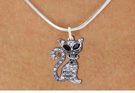 <BR>               WHOLESALE CAT JEWELRY <bR>                   EXCLUSIVELY OURS!! <Br>              AN ALLAN ROBIN DESIGN!! <BR>     CLICK HERE TO SEE 1000+ EXCITING <BR>           CHANGES THAT YOU CAN MAKE! <BR>        LEAD, NICKEL & CADMIUM FREE!! <BR>     W1438SN - SILVER TONE WITH CLEAR <BR>      CRYSTAL CAT CHARM AND NECKLACE <BR>            FROM $5.55 TO $9.00 �2013