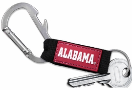 <bR>    WHOLESALE COLLEGE KEYCHAIN <BR>    OFFICIAL COLLEGIATE LICENSED!! <br>            LEAD & NICKEL FREE!!! <br>W20566KC - UNIVERSITY OF ALABAMA <BR> CARABINER WITH BOTTLE OPENER AND <BR>      KEY CHAIN FOR ONLY $3.53! �2013