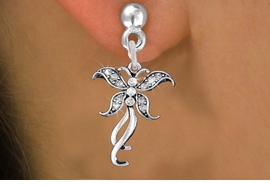 <BR>      WHOLESALE DRAGONFLY EARRING<bR>                  EXCLUSIVELY OURS!! <Br>              AN ALLAN ROBIN DESIGN!!<BR>        LEAD, NICKEL & CADMIUM FREE!! <BR>   W1392SE - SILVER TONE AND CRYSTAL <BR>      BUTTERFLY CHARM EARRINGS <BR>          FROM $4.95 TO $10.00 �2013