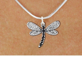 <BR>      WHOLESALE DRAGONFLY NECKLACE<bR>                   EXCLUSIVELY OURS!! <Br>               AN ALLAN ROBIN DESIGN!! <BR>      CLICK HERE TO SEE 1000+ EXCITING <BR>         CHANGES THAT YOU CAN MAKE! <BR>        LEAD, NICKEL & CADMIUM FREE!! <BR> W1393SN - SILVER TONE AND JET CRYSTAL <BR>    DRAGONFLY CHARM AND NECKLACE <BR>            FROM $5.40 TO $9.85 �2013