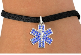 <BR>  WHOLESALE EMT BRACELET JEWELRY<bR>                EXCLUSIVELY OURS!! <Br>           AN ALLAN ROBIN DESIGN!! <BR>  CLICK HERE TO SEE 1000+ EXCITING <BR>        CHANGES THAT YOU CAN MAKE! <BR>     LEAD, NICKEL & CADMIUM FREE!! <BR>    W1468SB - SILVER TONE AND BLUE <BR> CRYSTAL EMT CROSS CHARM & BRACELET <BR>         FROM $5.15 TO $9.00 �2013