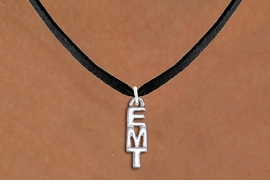 "<br>        WHOLESALE EMT COSTUME JEWELRY <bR>                   EXCLUSIVELY OURS!! <BR>              AN ALLAN ROBIN DESIGN!! <BR>     CLICK HERE TO SEE 1000+ EXCITING <BR>           CHANGES THAT YOU CAN MAKE! <BR>        CADMIUM, LEAD & NICKEL FREE!! <BR>        W1497SN - SMALL SILVER TONE <BR>    VERTICAL ""EMT"" CHARM & NECKLACE <BR>             FROM $4.50 TO $8.35 �2013"