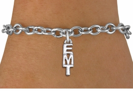"<br>      WHOLESALE EMT FASHION BRACELET <bR>                    EXCLUSIVELY OURS!!<BR>               AN ALLAN ROBIN DESIGN!!<BR>      CLICK HERE TO SEE 1000+ EXCITING<BR>            CHANGES THAT YOU CAN MAKE!<BR>         CADMIUM, LEAD & NICKEL FREE!!<BR>          W1497SB - SMALL SILVER TONE <Br>     VERTICAL ""EMT"" CHARM & BRACELET <BR>             FROM $4.50 TO $8.35 �2013"