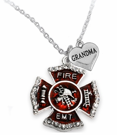 "<Br>              WHOLESALE EMT ON A MALTESE CROSS JEWELRY  <BR>                         AN ALLAN ROBIN DESIGN!! <Br>                   CADMIUM, LEAD & NICKEL FREE!!  <Br> W1720-1832N1  ""EMT  GRANDMA"" HEART  <BR>  CHARMS ON A ADJUSTABLE CHAIN NECKLACE <BR>            FROM $7.50 TO $9.50 �2016"