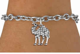 <BR>   WHOLESALE FASHION ANIMAL JEWELRY <bR>                 EXCLUSIVELY OURS!! <Br>            AN ALLAN ROBIN DESIGN!! <BR>   CLICK HERE TO SEE 1000+ EXCITING <BR>         CHANGES THAT YOU CAN MAKE! <BR>      LEAD, NICKEL & CADMIUM FREE!! <BR> W1511SB - ANTIQUED SILVER TONE AND <BR> SPARKLING CLEAR CRYSTAL CAMEL CHARM <BR> BRACELET FROM $5.50 TO $9.35 �2013