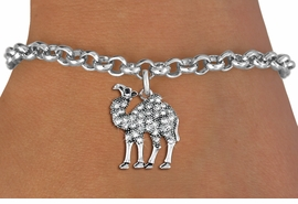 <BR>   WHOLESALE FASHION ANIMAL JEWELRY <bR>                 EXCLUSIVELY OURS!! <Br>            AN ALLAN ROBIN DESIGN!! <BR>   CLICK HERE TO SEE 1000+ EXCITING <BR>         CHANGES THAT YOU CAN MAKE! <BR>      LEAD, NICKEL & CADMIUM FREE!! <BR> W1511SB - ANTIQUED SILVER TONE AND <BR> SPARKLING CLEAR CRYSTAL CAMEL CHARM <BR> BRACELET FROM $5.15 TO $9.00 �2013